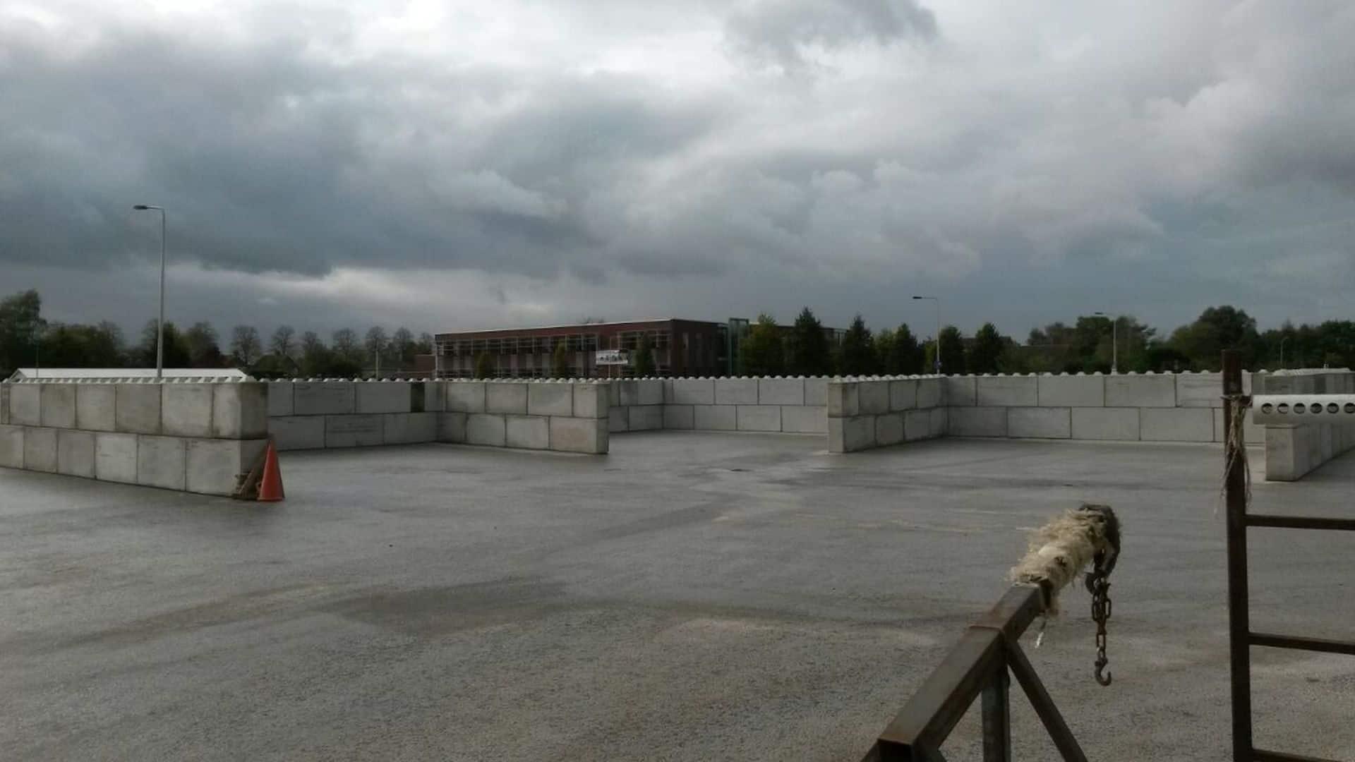 Realisatie opslagruimte met betonblokken 160x40x80 en 80x40x80 | Project Zundert