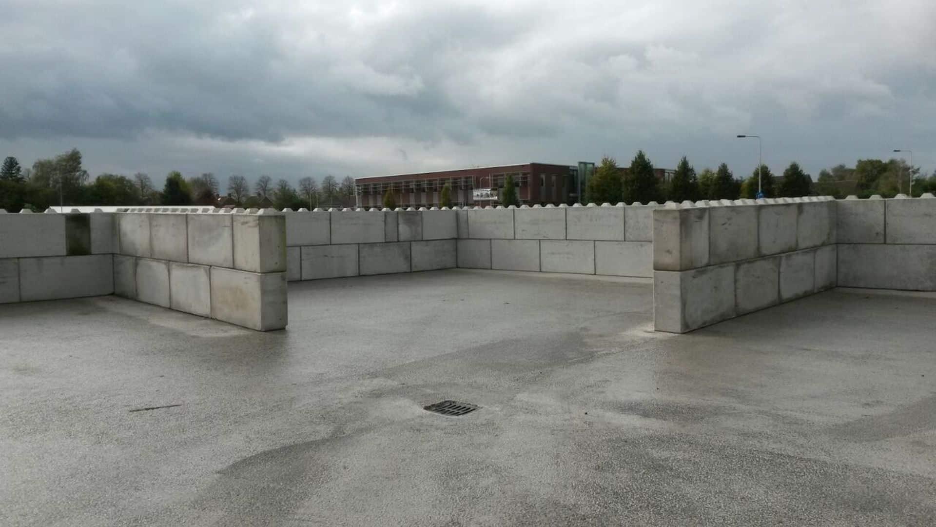 Toepassingen betonblokken   Scheidingsmuren of keerwanden voor bulkgoederen
