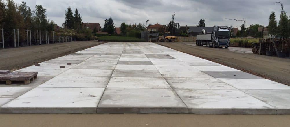 Terreinverharding | Betonplaat afmeting 200x200cm