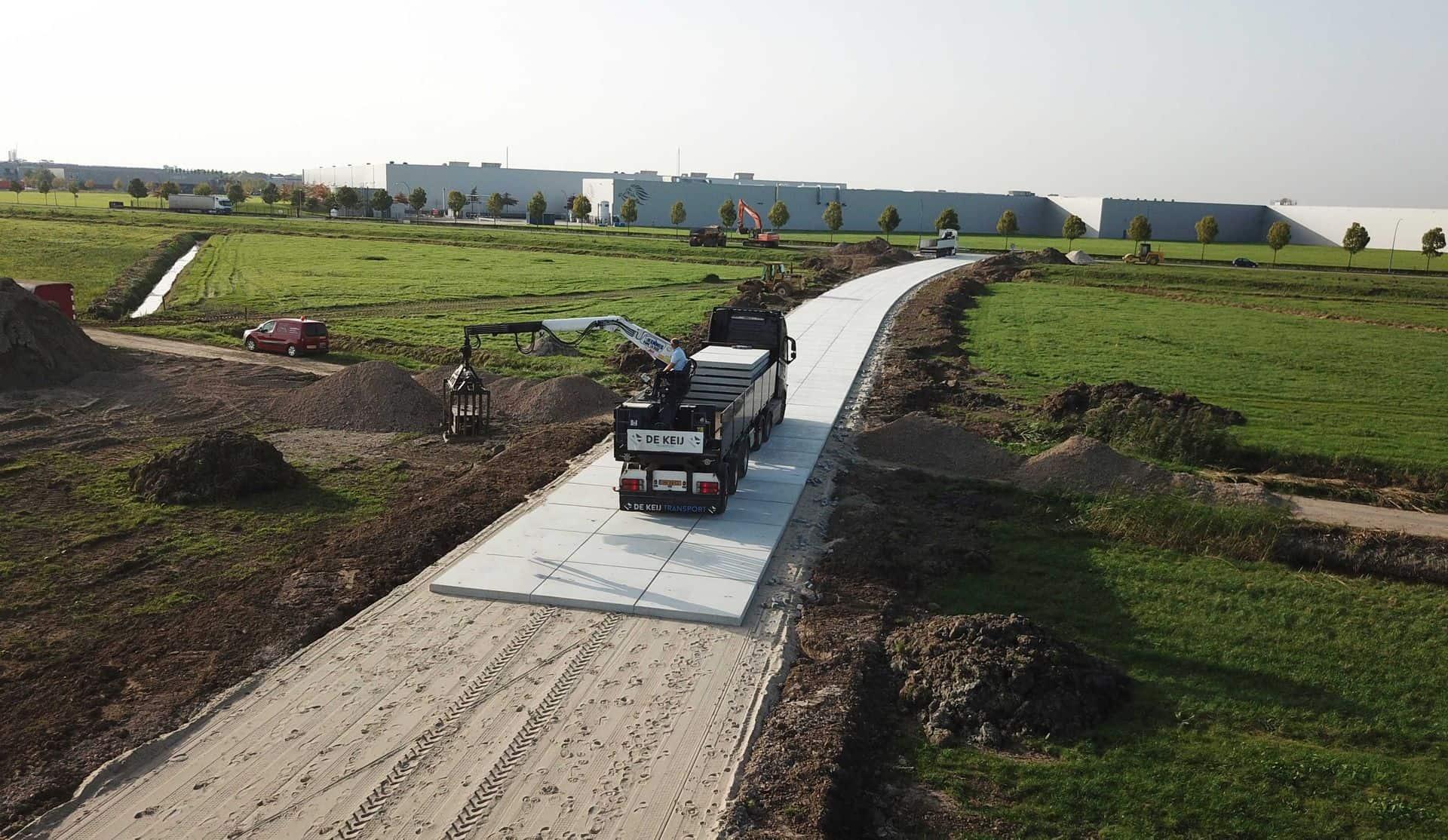 Project Tiel | Toegangsweg | De Keij Betonplaten & Keerwanden