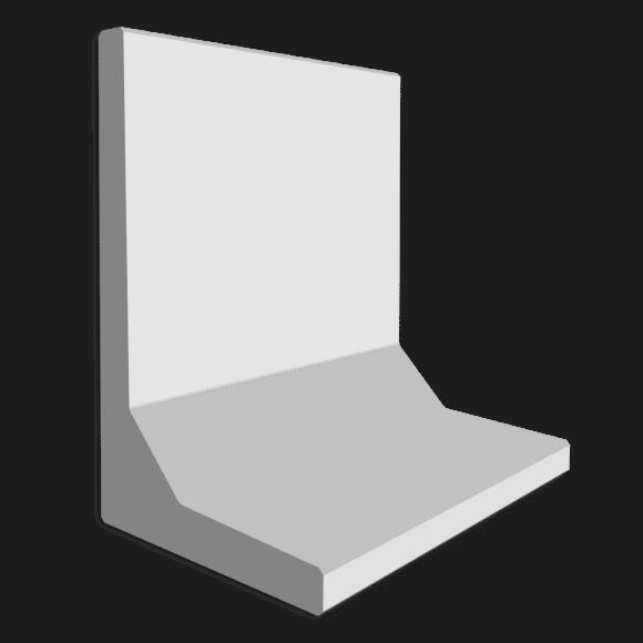 Keerwand afmeting 100 x 100 x 60
