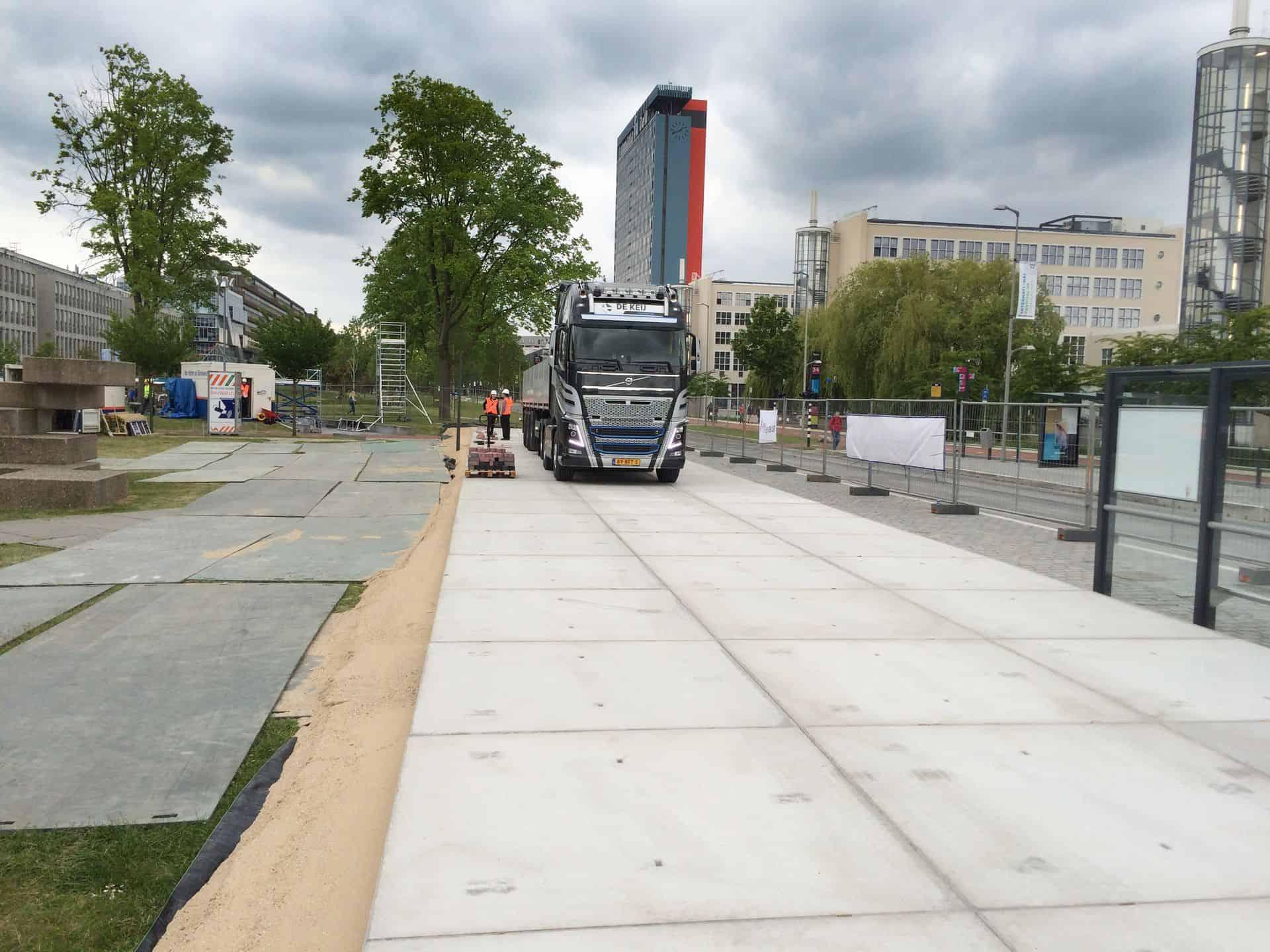 Project TU Delft | Tijdelijke terreinverharding voor krattenbrug