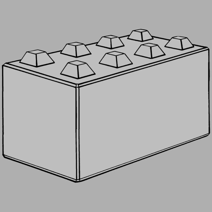 Megablok 160x80x80cm (8 nokken)