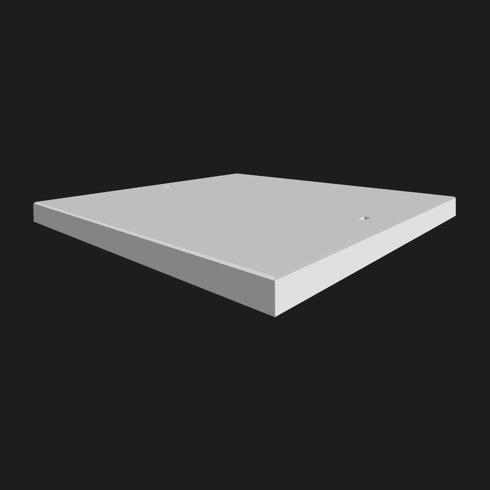 Betonplaat afmetingen 200x200x.12/.14/.16cm