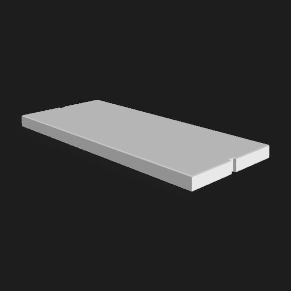 Betonplaat afmeting 300x120x