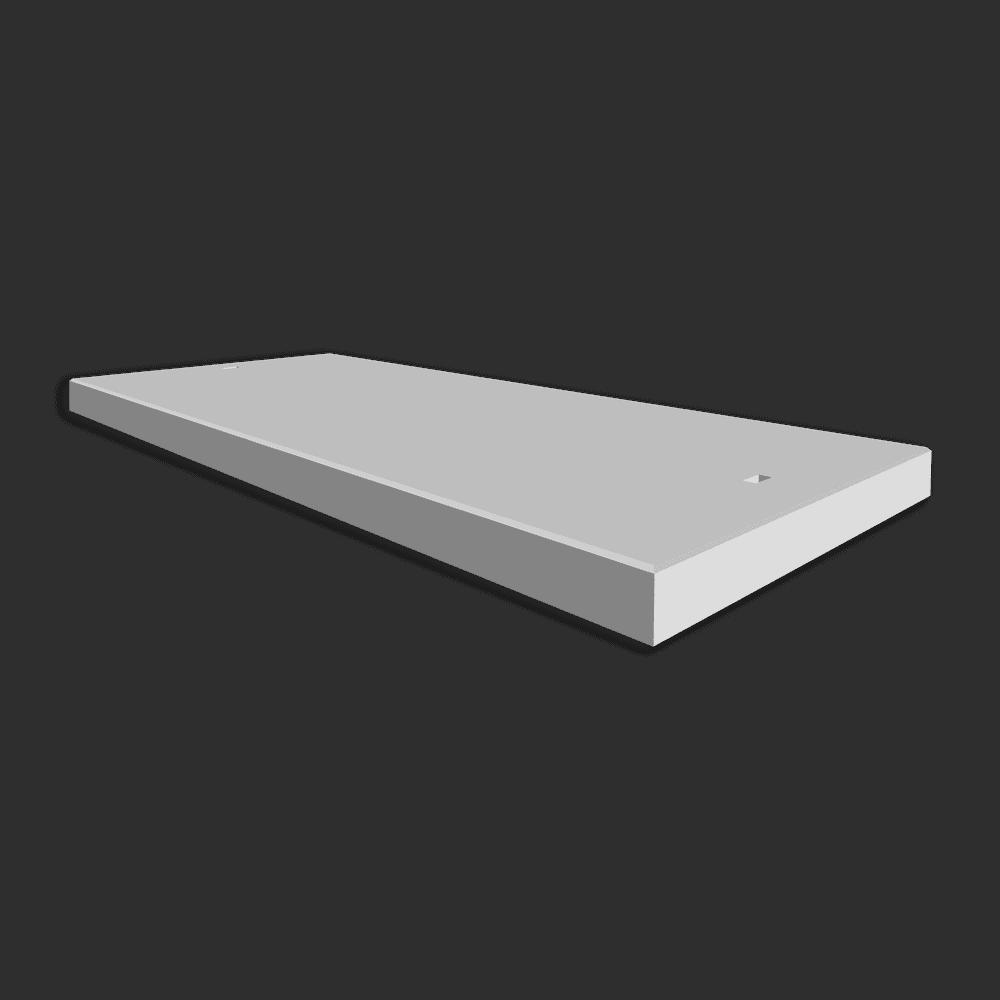 Betonplaat afmetingen 300x120x.12/.14cm