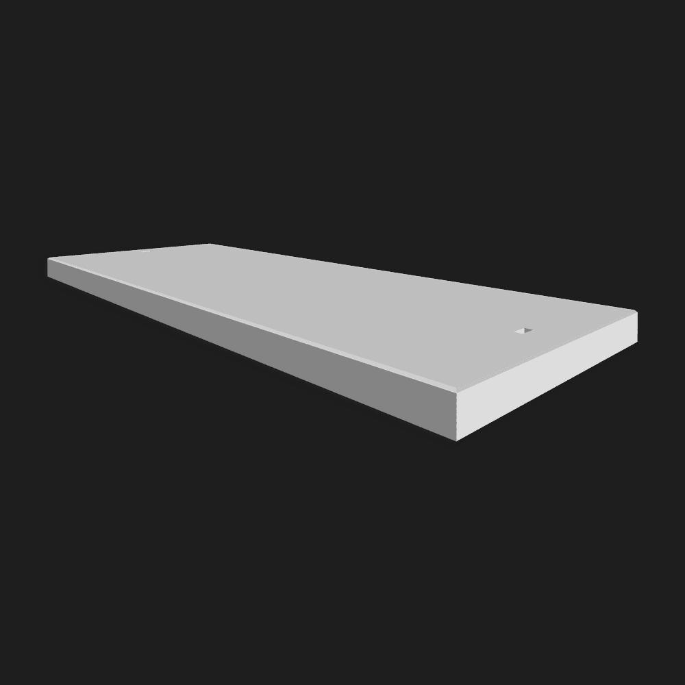 Betonplaat afmeting 350x120x.14cm