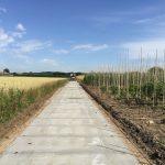 Betonpaden kwekerij | Betonweg | Betonplaten 300x120x.14cm