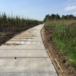 Betonpad kwekerij Opheusden | Betonplaten 300x120x.14cm