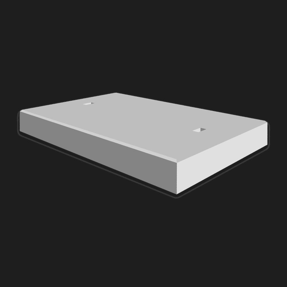 Betonplaat afmeting 80x120x.12cm