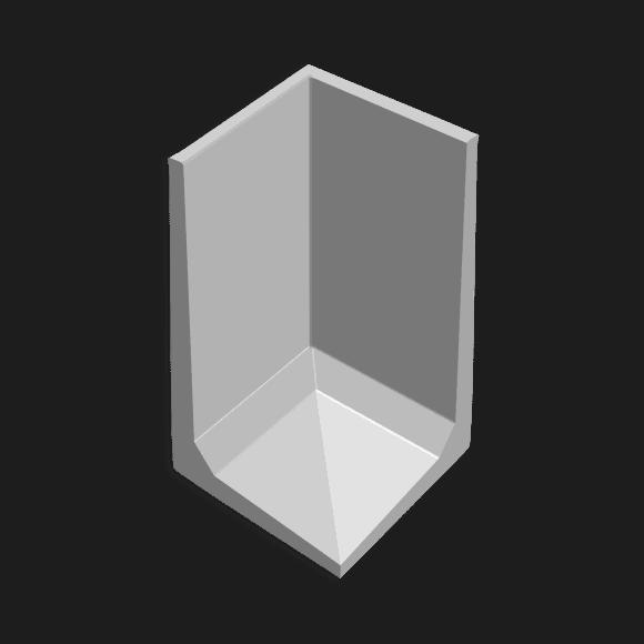 Hoekkeerwand afmeting (lxbxh) 100 x 100 x 175
