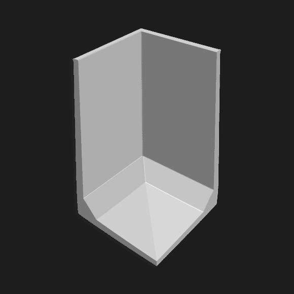 Hoekkeerwand afmeting (lxbxh) 150 x 150 x 250