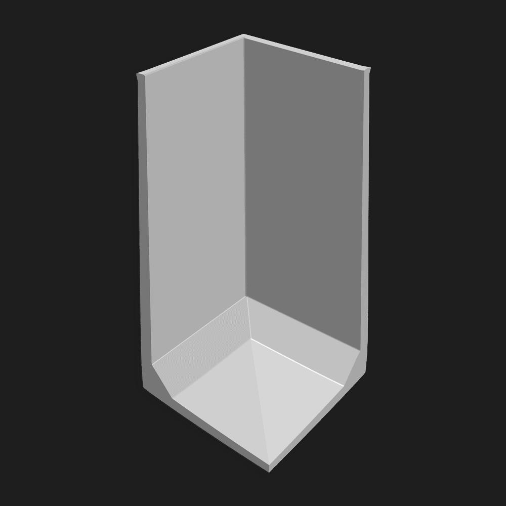 Hoekkeerwand afmeting (lxbxh) 150 x 150 x 300