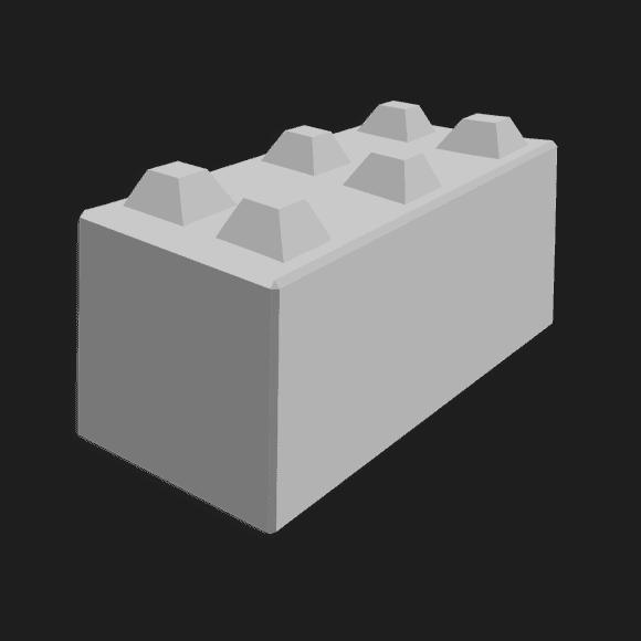 Megablok afmeting 150x60x60cm (6 nokken)