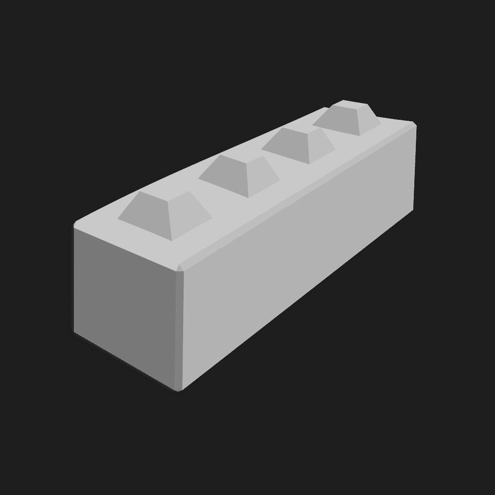 Megablok afmeting 160x40x40cm (4 nokken)