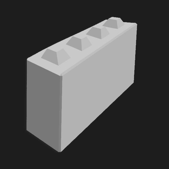 Megablok afmeting 160x40x80cm (4 nokken)