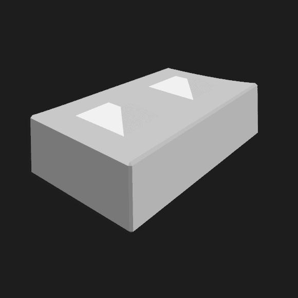 Megablok afmeting 160x80x40cm (2 nokken)
