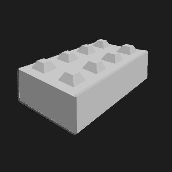 Megablok afmeting 160x80x40cm (8 nokken)