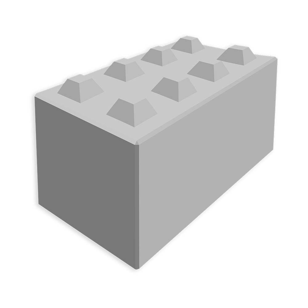 Megablok afmeting 160x80x80cm (8 nokken)