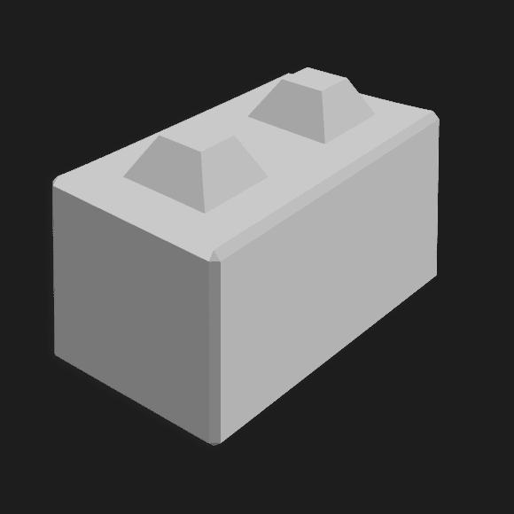 Betonblocksteine 80x40x40 cm (2 Nocken)
