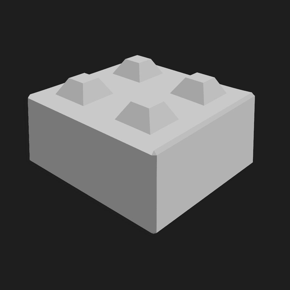 Megablok afmeting 80x80x40cm (4 nokken)