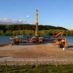 Project Opheusden 2015 | Terreinverharding | Betonplaten 200x200x.16 | IJzeren rijplaten | Zwaar verkeer