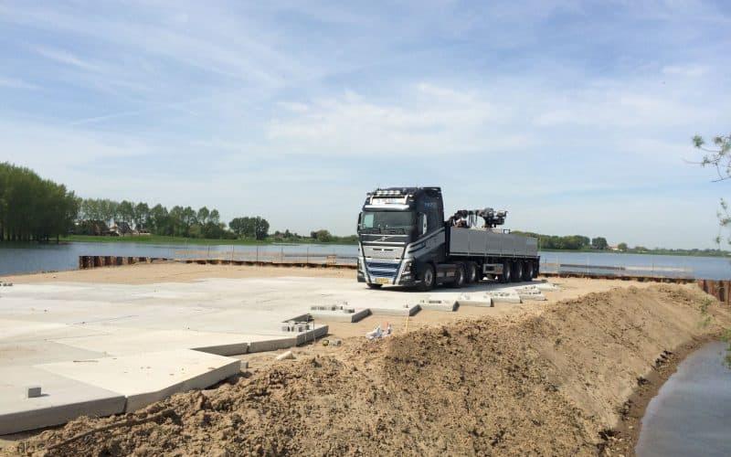 Stelconplaten afmeting | Terreinverharding | Project Opheusden | Dijkverzwaring