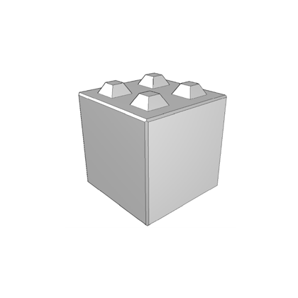 Megablok afmeting 80x80x80cm (4 nokken)