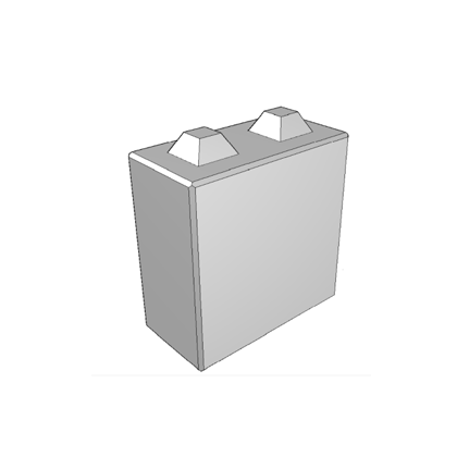 Megablok afmeting 80x40x80cm (2 nokken)