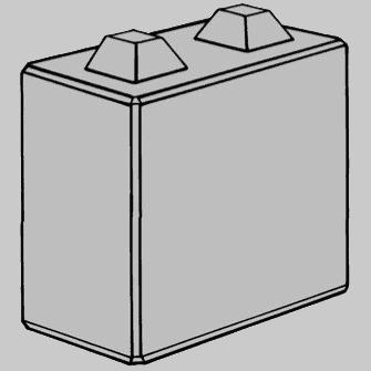 Megablok 80x40x80cm (2 nokken)