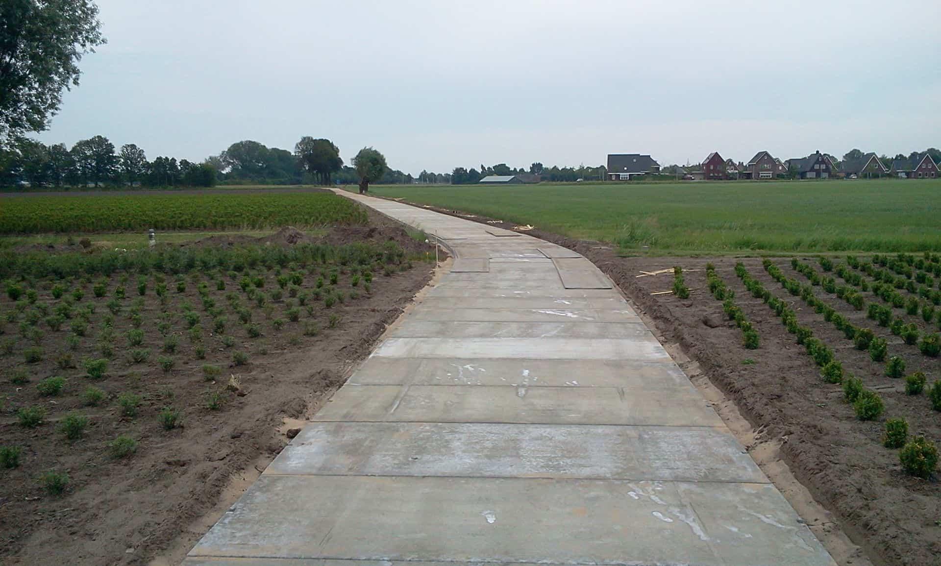 Project diverse kwekerijen | Kavelpaden met betonplaten 300x120x.12