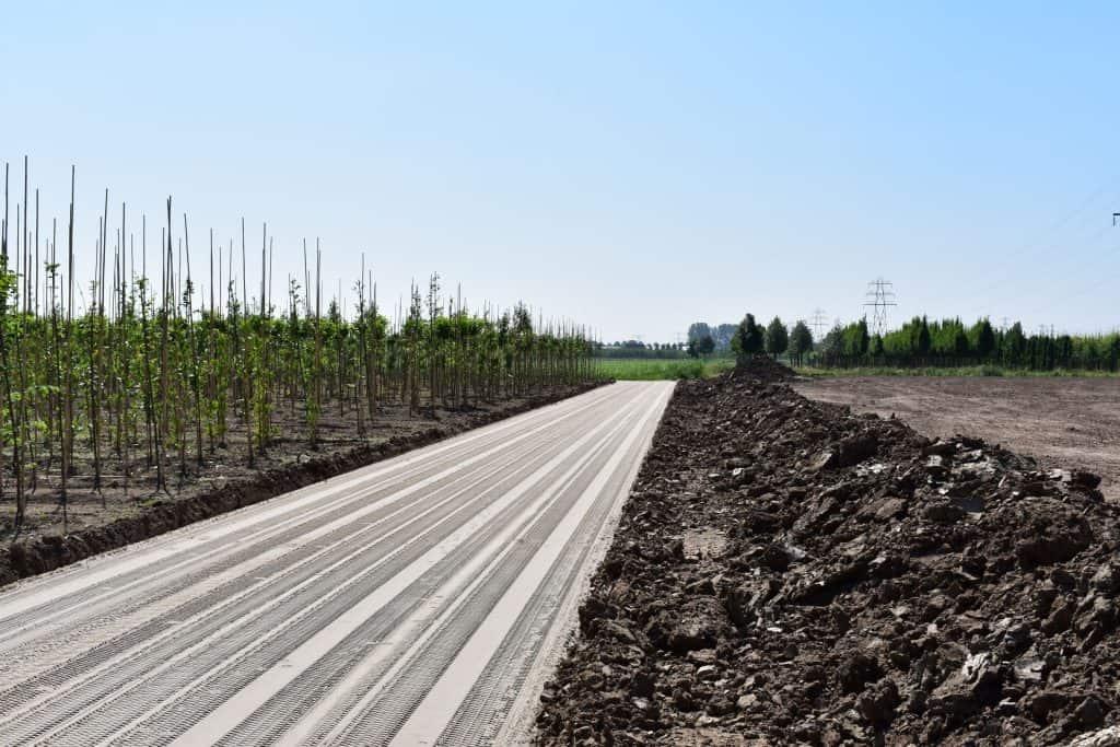 Geëgaliseerde zandbaan   Project kwekerij Opheusden