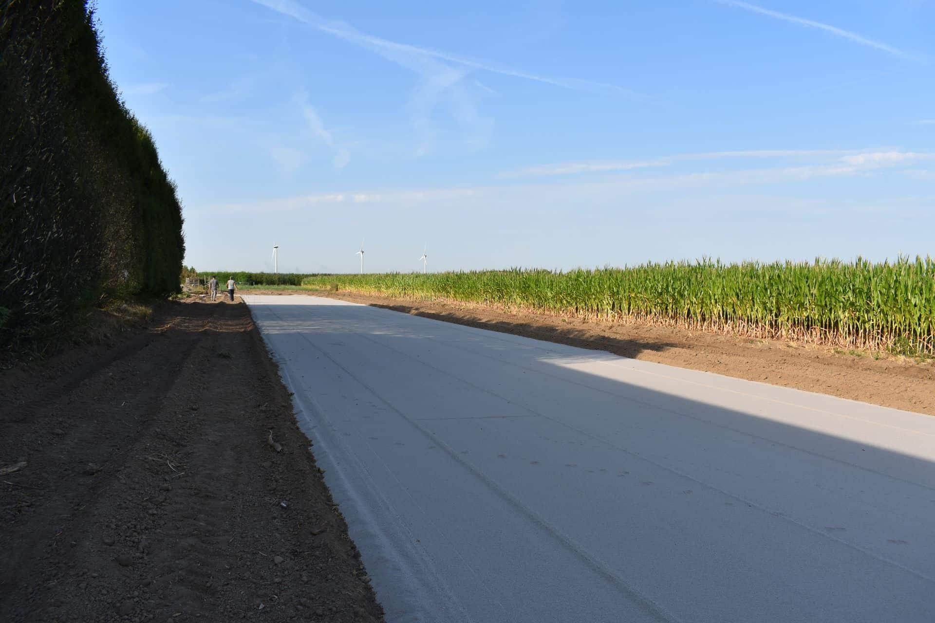 Geëgaliseerde zandbaan | Project kwekerij in Lienden