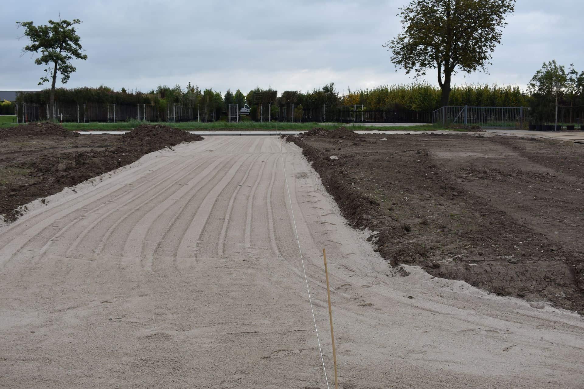 Geëgaliseerde zandbaan | Project kwekerij Opheusden