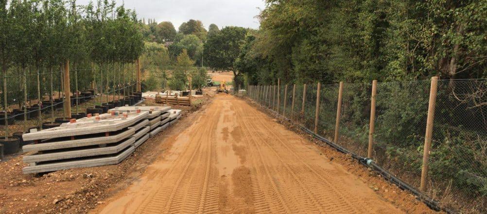 Project Flamstead | Egaliseren van de zandbaan