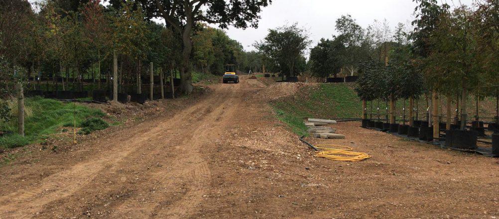 Project Flamstead   Onverhard toegangsweg september 2018
