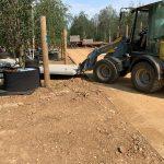 Betonplaten leggen met shovel | De Keij Betonplaten