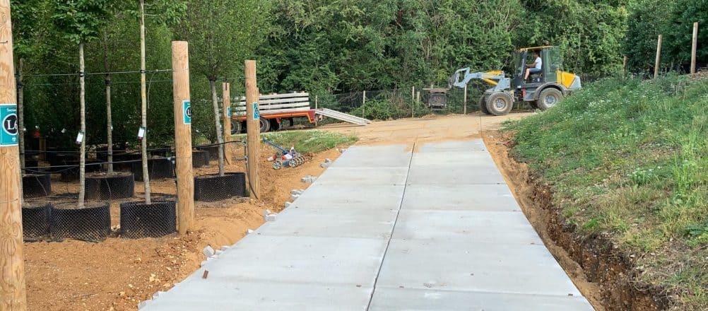 Toegangswegen met betonplaten | Project Flamstead | De Keij