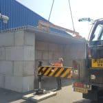 Megablokken plaatsen | betonblokken leveren | De Keij Betonplaten