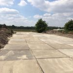 Gebruikte betonplaten 200x200 met hoeklijn   De Keij Betonplaten