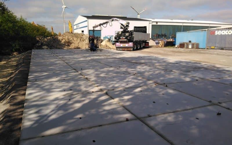 Betonplaten plaatsen | Project Südbrookmerland