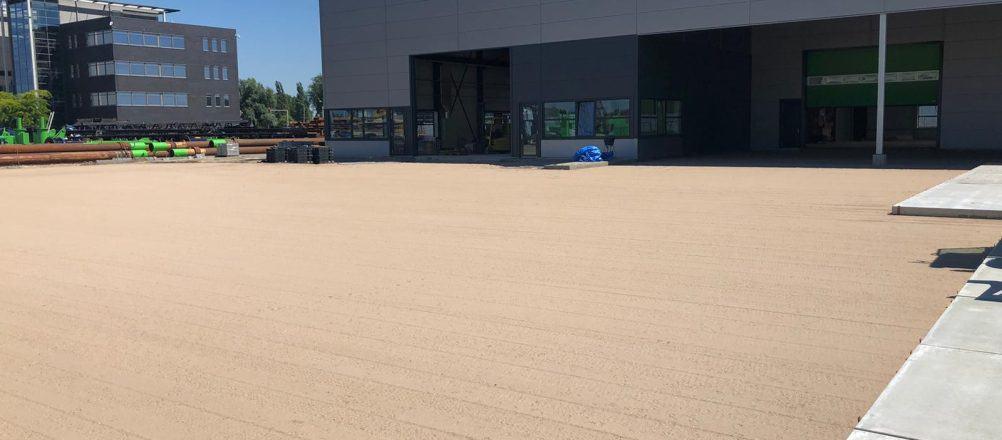 Sand als Untergrund für Betonplatten | De Keij