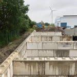 Megablokken plaatsen | Opslagruimte grond | Project Südbrookmerland | De Keij