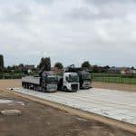 Stelconplatten verlegen mit LKW | De Keij