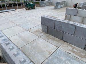 Betonplaten verharding | Betonblokken stapelen | Opslagindeling